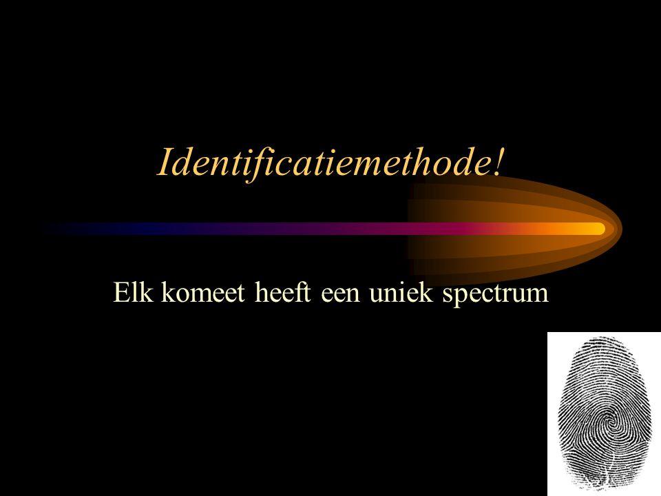 Identificatiemethode! Elk komeet heeft een uniek spectrum 11