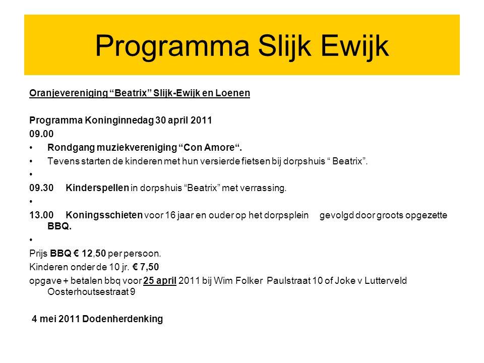 Programma Valburg (1) Programma Koninginnedag 2010- Zaterdag 30 april 2011.