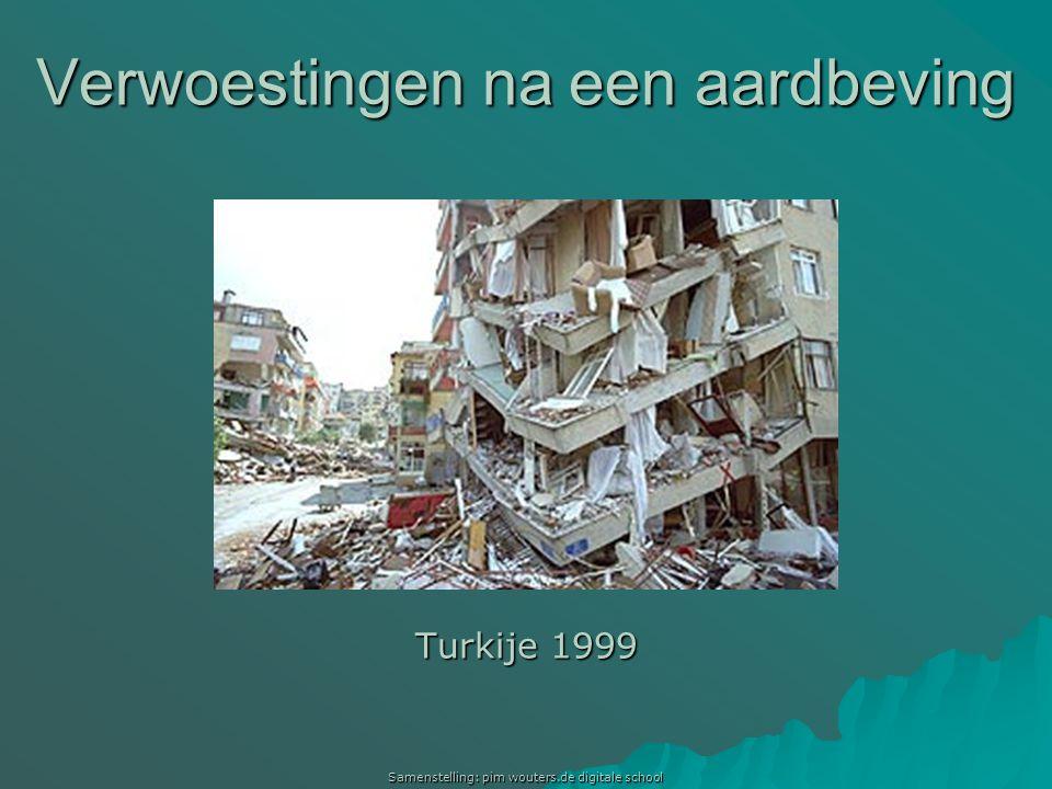 Verwoestingen na een aardbeving Turkije 1999