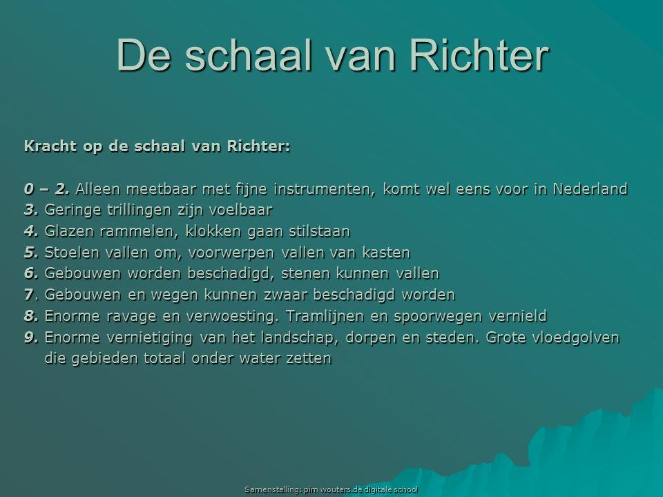 Samenstelling: pim wouters.de digitale school De schaal van Richter Kracht op de schaal van Richter: 0 – 2. Alleen meetbaar met fijne instrumenten, ko