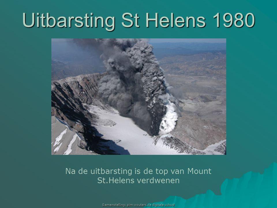 Uitbarsting St Helens 1980 Uitbarsting Mount St.Helens 1980 Na de uitbarsting is de top van Mount St.Helens verdwenen