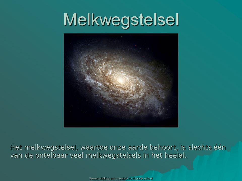 Samenstelling: pim wouters.de digitale school Melkwegstelsel Het melkwegstelsel, waartoe onze aarde behoort, is slechts één van de ontelbaar veel melk