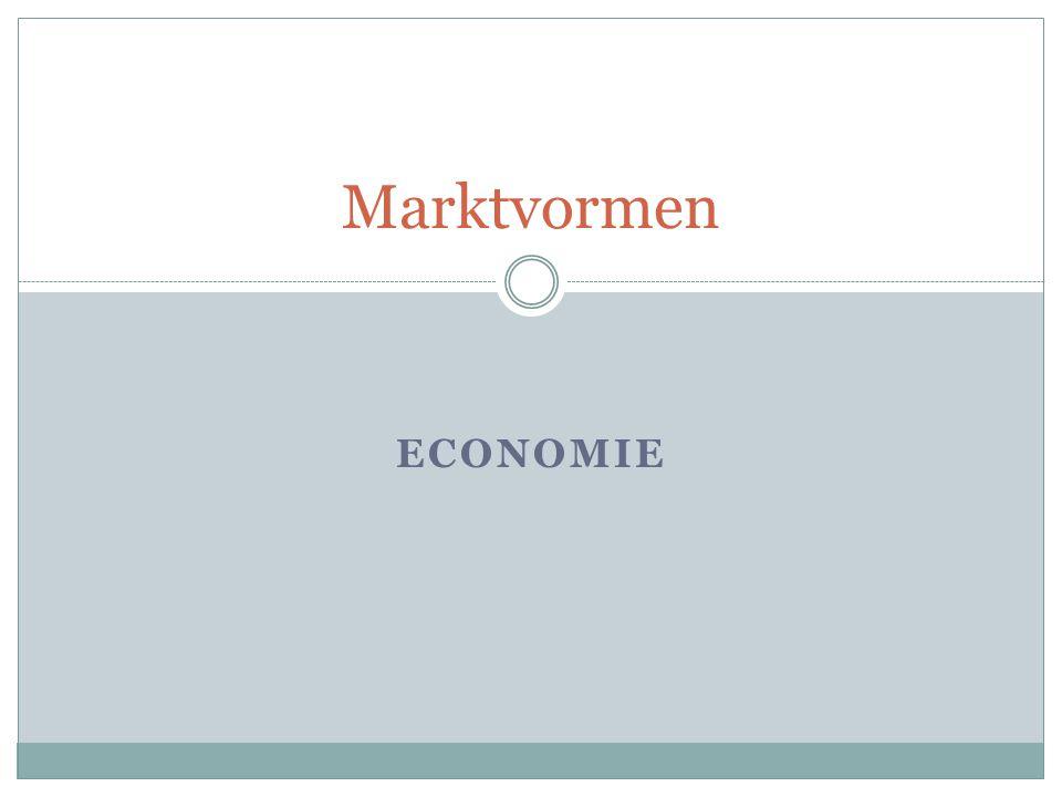 Soorten marktvormen  Volledig vrije mededinging (volkomen concurrentie)  Monopolie  Oligopolie  Monopolistische concurrentie