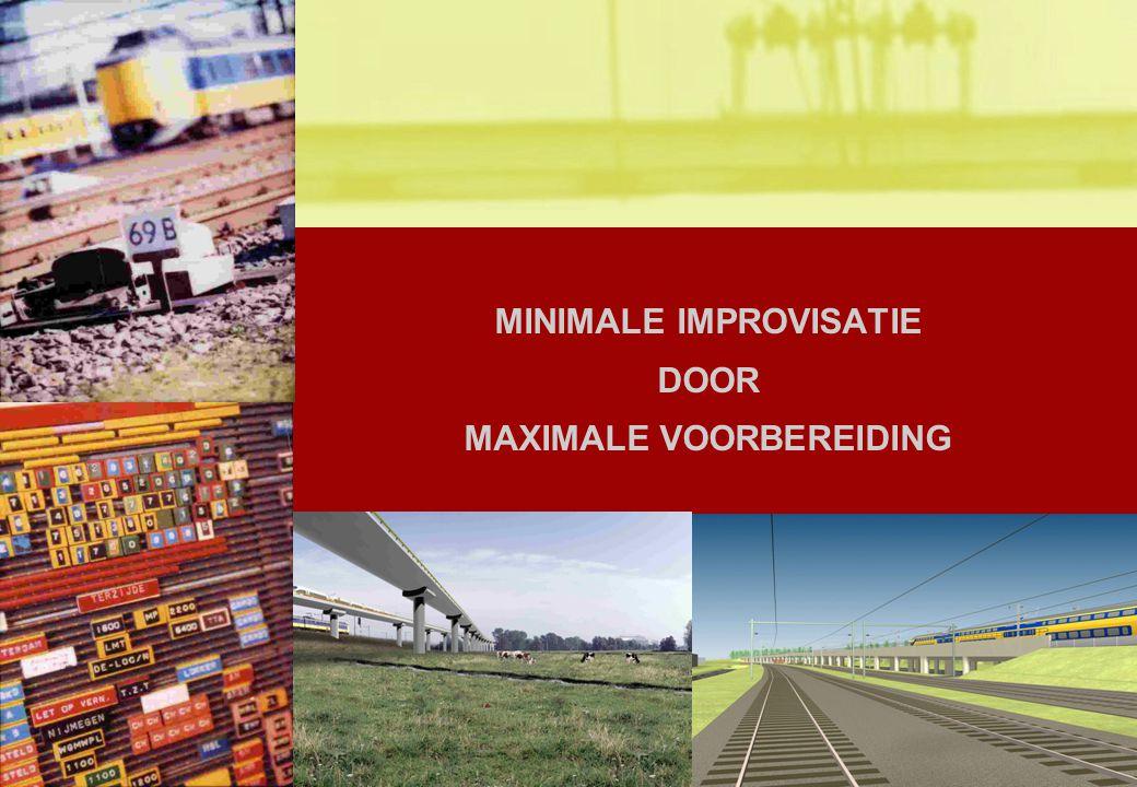 1 MINIMALE IMPROVISATIE DOOR MAXIMALE VOORBEREIDING