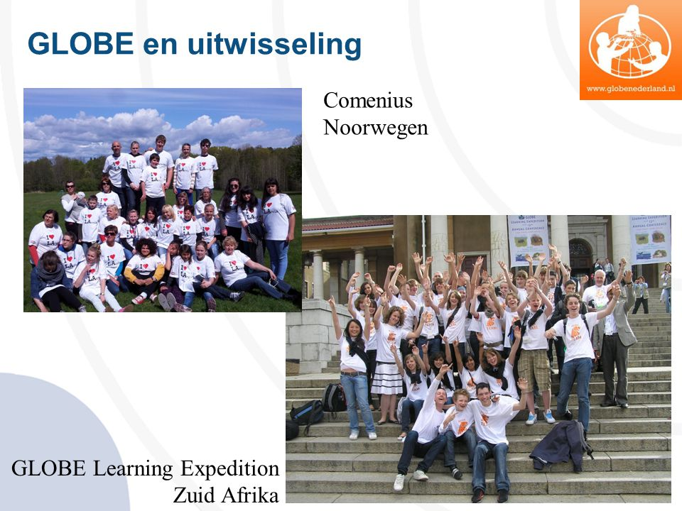 GLOBE en uitwisseling Comenius Noorwegen GLOBE Learning Expedition Zuid Afrika