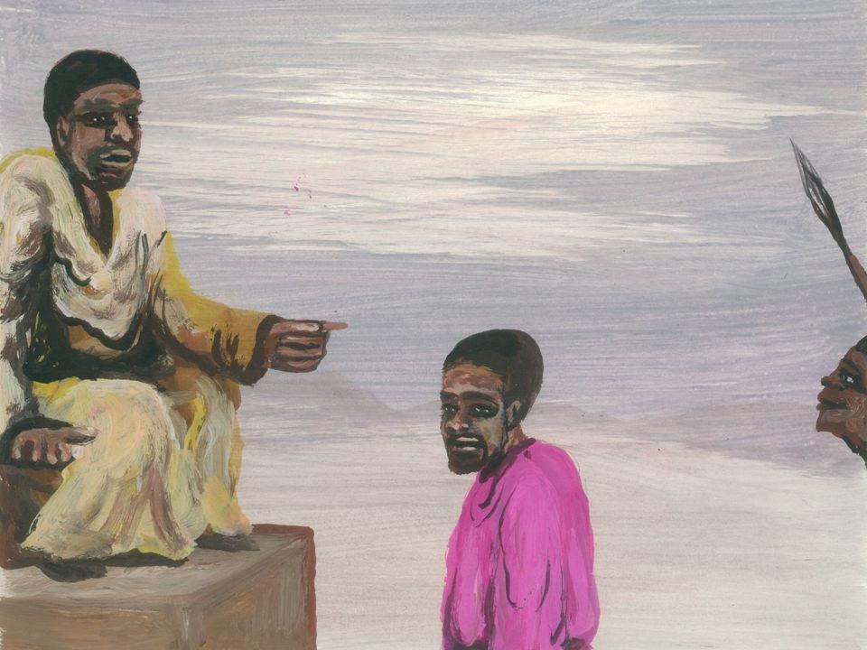 Jezus neemt zijn kruis op