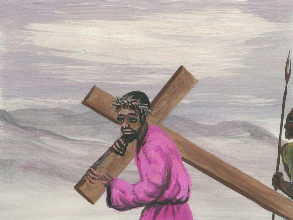 Jezus valt voor de eerste maal onder het kruis