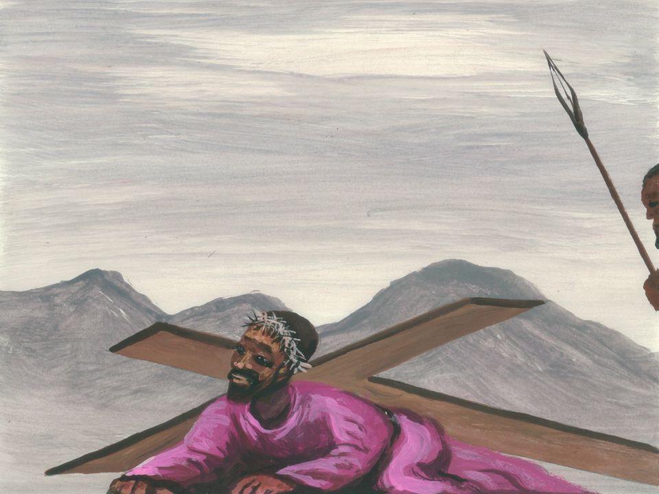 Jezus wordt van het kruis genomen