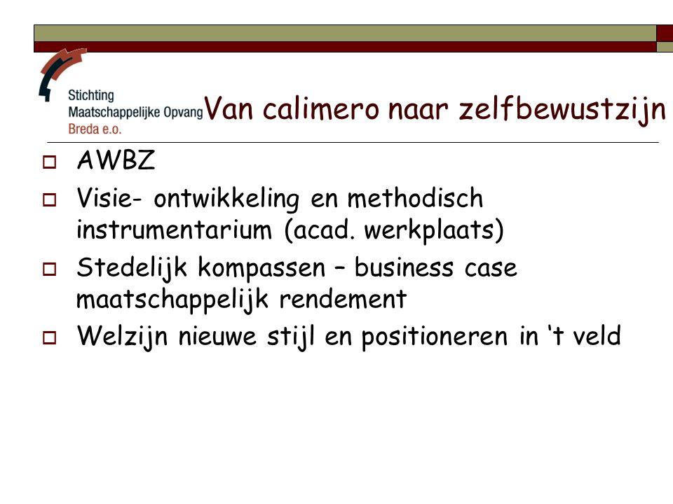 Van calimero naar zelfbewustzijn  AWBZ  Visie- ontwikkeling en methodisch instrumentarium (acad.