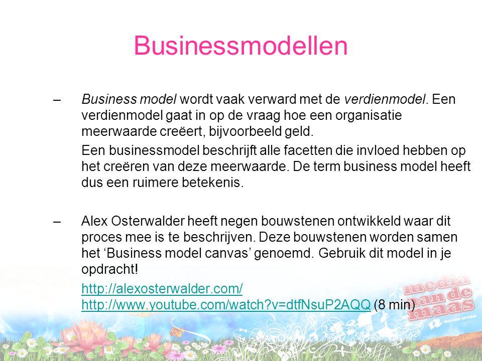 Businessmodellen –Business model wordt vaak verward met de verdienmodel. Een verdienmodel gaat in op de vraag hoe een organisatie meerwaarde creëert,