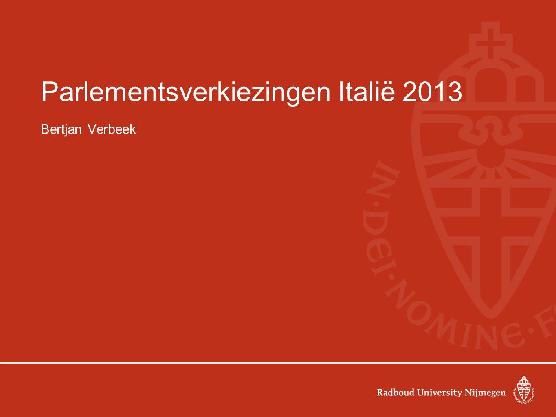 Parlementsverkiezingen Italië 2013 Bertjan Verbeek