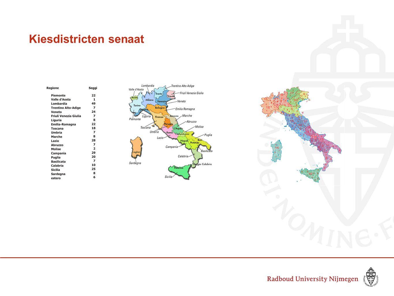 Kiesdistricten senaat