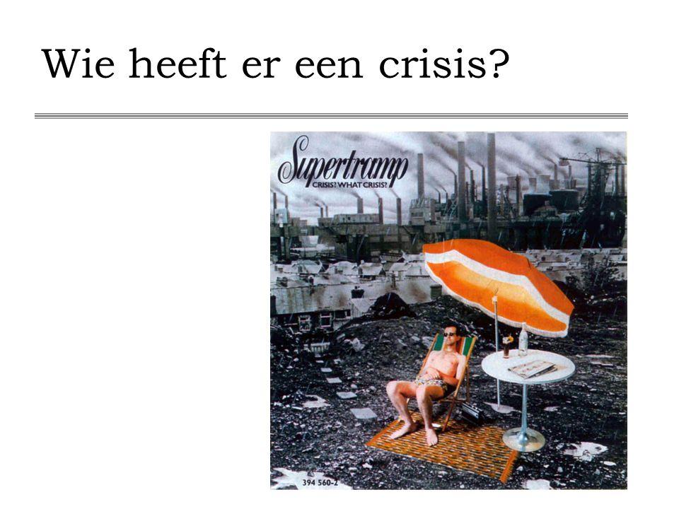 Wie heeft er een crisis