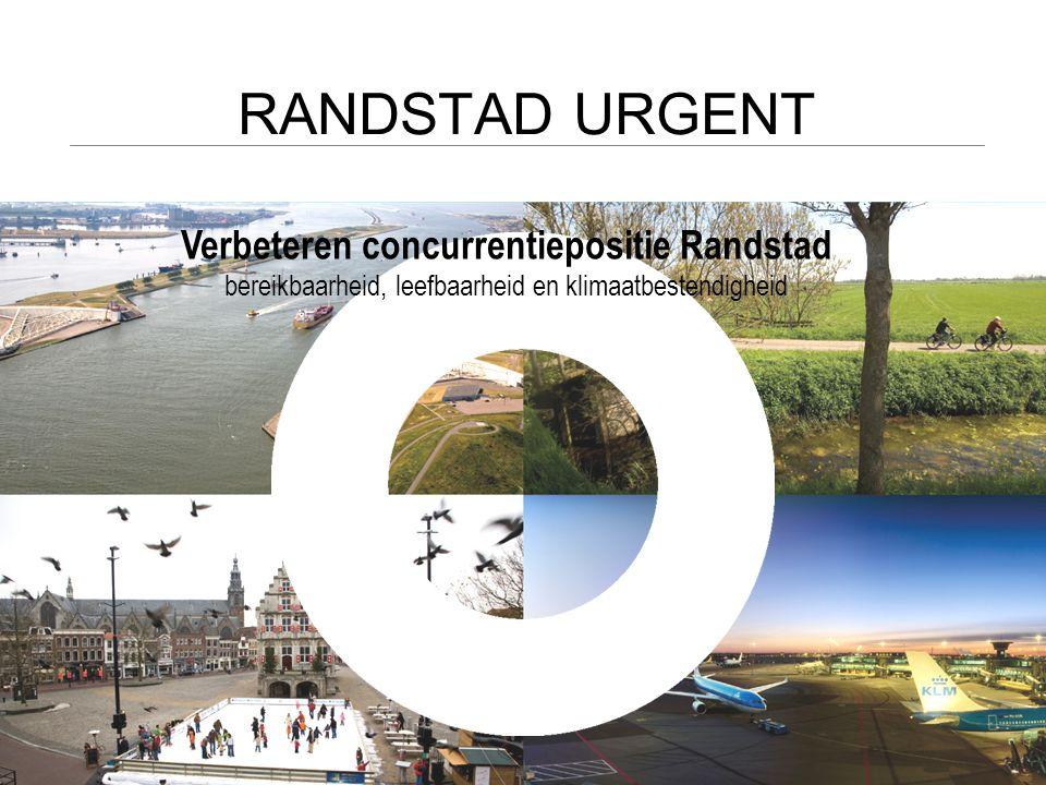 RANDSTAD URGENT 150.000 WONINGEN 5000 HA NATUUR 800 HA WATER(BERGING) 170 KM WEGEN 30 KM SPOOR 3000 HA BEDRIJVENTERREIN