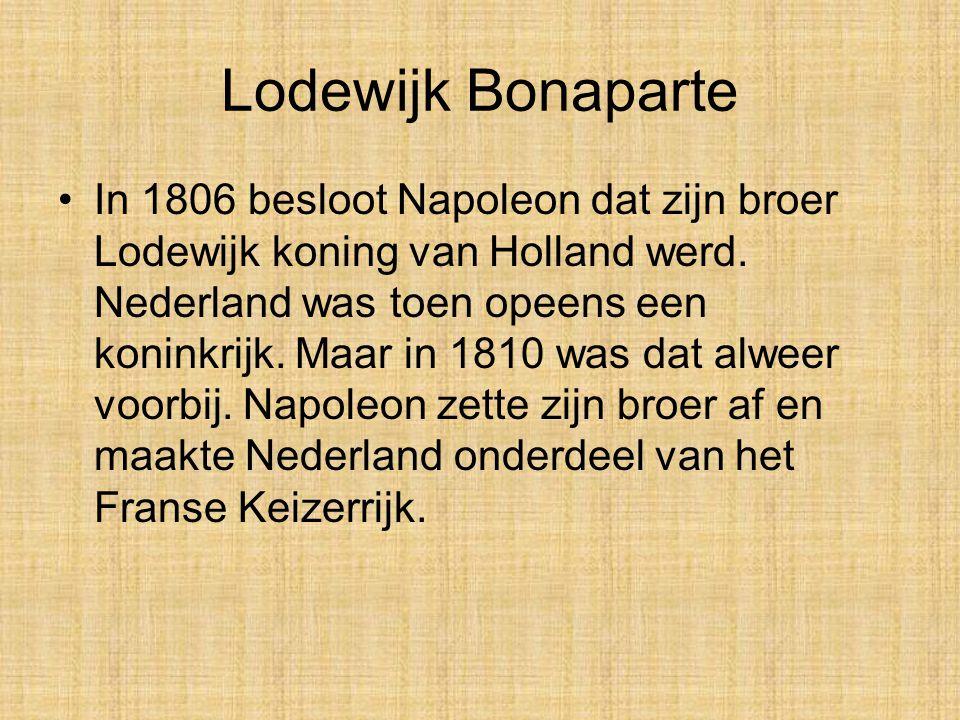 Nederland als onderdeel van het Franse rijk. Nederland heeft in de Franse tijd vier verschillende namen gehad: Bataafse Republiek (1795-1801) Bataafs