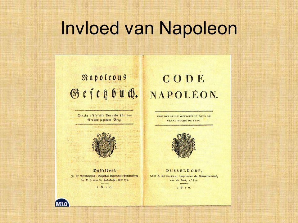 •De Nederlanders reageerden verschillend op deze vernieuwingen. Sommigen vonden de Code Napoléon, zo heette het Franse wetboek, een enorme verbetering
