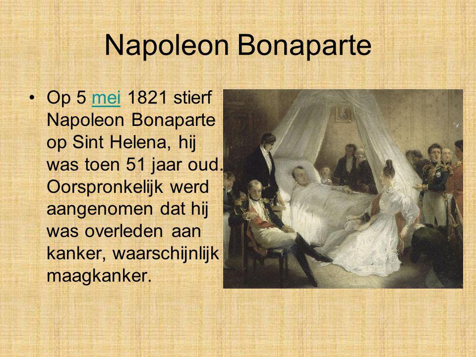 Napoleon Bonaparte •Toen Napoleon was verslagen, dacht niemand erover om zijn veranderingen weer af te schaffen. Het nieuwe wetboek bleef bestaan, net