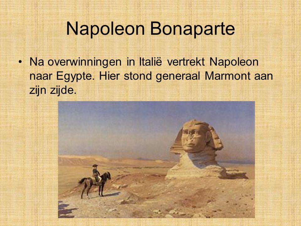 •Na overwinningen in Italië vertrekt Napoleon naar Egypte.