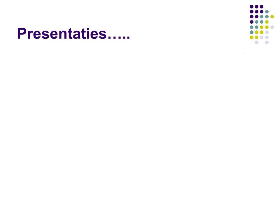 Presentaties…..