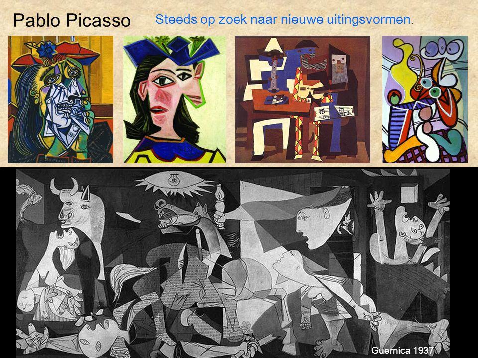 Pablo Picasso Steeds op zoek naar nieuwe uitingsvormen. Guernica 1937