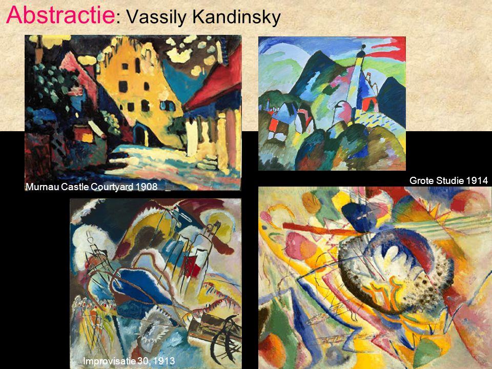 Abstractie : Vassily Kandinsky Murnau Castle Courtyard 1908 Grote Studie 1914 Improvisatie 30, 1913