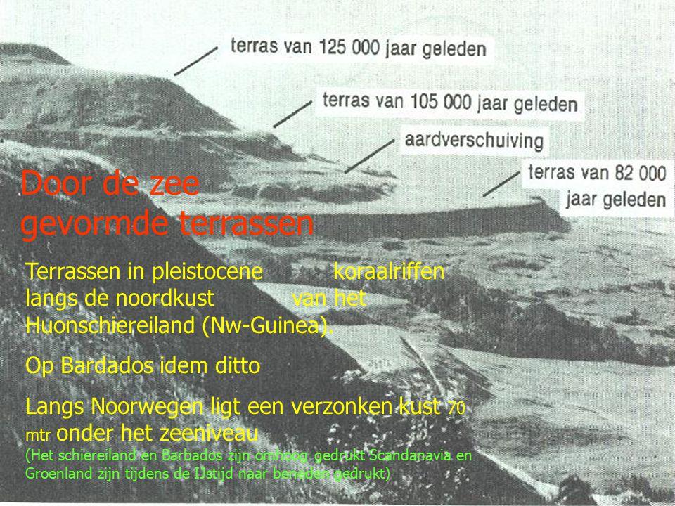Zeespiegelrijzing -30 cm NAP +13 cm NAP 1864 2004 vanaf 1864 tot 2004, bron RWS 2024 2044 2064 2084 2104 2024 2044 2064 2084 2104 120 cm 100 cm 80 cm 60 cm 40 cm 20 cm 0 NAP - 20 cm - 40 cm Hoge schatting van derden watersnood 1953 watersnood 1953 Overstroming in 1916 = totaal 40cm in 140 jr; RWS 100-10-20-30-40 Uit De menselijk maat , van SalomonKroonenberg -25 tot -2= 23 mm -2 tot +13=15 Uit DE IJSTIJD , John en Katherine Imbrie 1864-1953 23 cm = 0,26 m/jr bron RWS 1953 -2004 15 cm = 0,29 m/jr bron RWS 1993 -2004 3 cm = 0,27 m/jr bron (topex/ poseidon en Jason satelieten) Gaat het zo door, dan bereiken we met 0,3 cm/jr binnen 2000 jaar de 6 meter!