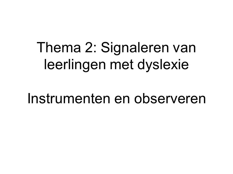 Signaleren •Gegevens overdracht PO – VO •Signaleringsinstrumenten •Observatiegegevens