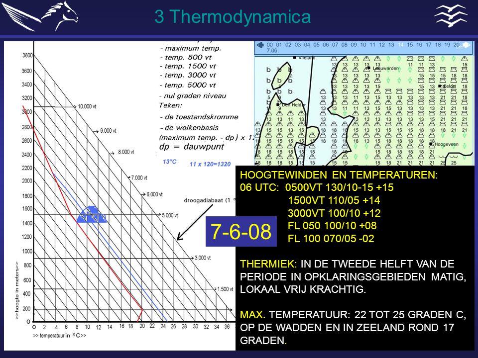 HOOGTEWINDEN EN TEMPERATUREN: 06 UTC: 0500VT 130/10-15 +15 1500VT 110/05 +14 3000VT 100/10 +12 FL 050 100/10 +08 FL 100 070/05 -02 THERMIEK: IN DE TWE