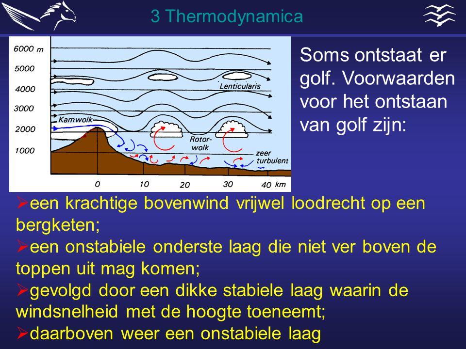  een krachtige bovenwind vrijwel loodrecht op een bergketen;  een onstabiele onderste laag die niet ver boven de toppen uit mag komen;  gevolgd doo
