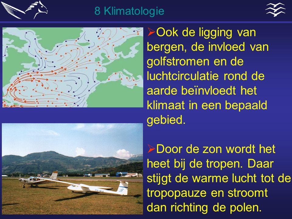  Ook de ligging van bergen, de invloed van golfstromen en de luchtcirculatie rond de aarde beïnvloedt het klimaat in een bepaald gebied.  Door de zo
