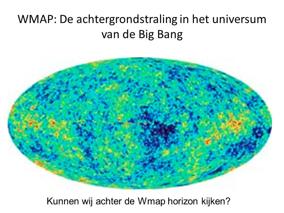 WMAP: De achtergrondstraling in het universum van de Big Bang Kunnen wij achter de Wmap horizon kijken?