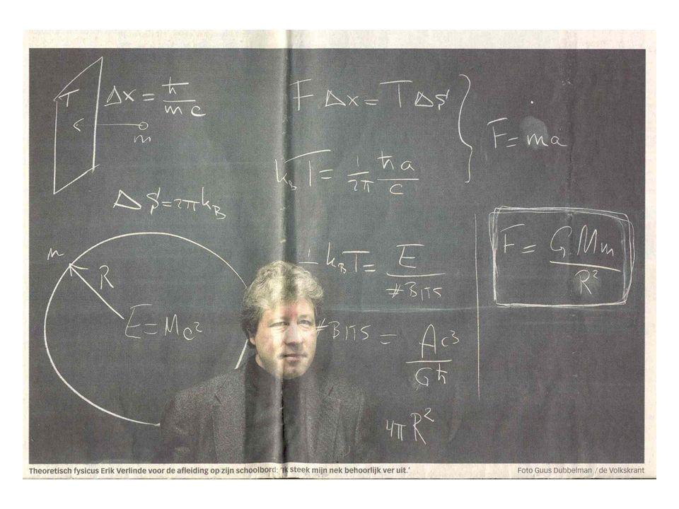 De theorie van Erik Verlinde