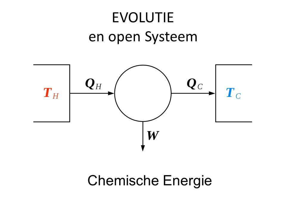 EVOLUTIE en open Systeem Chemische Energie