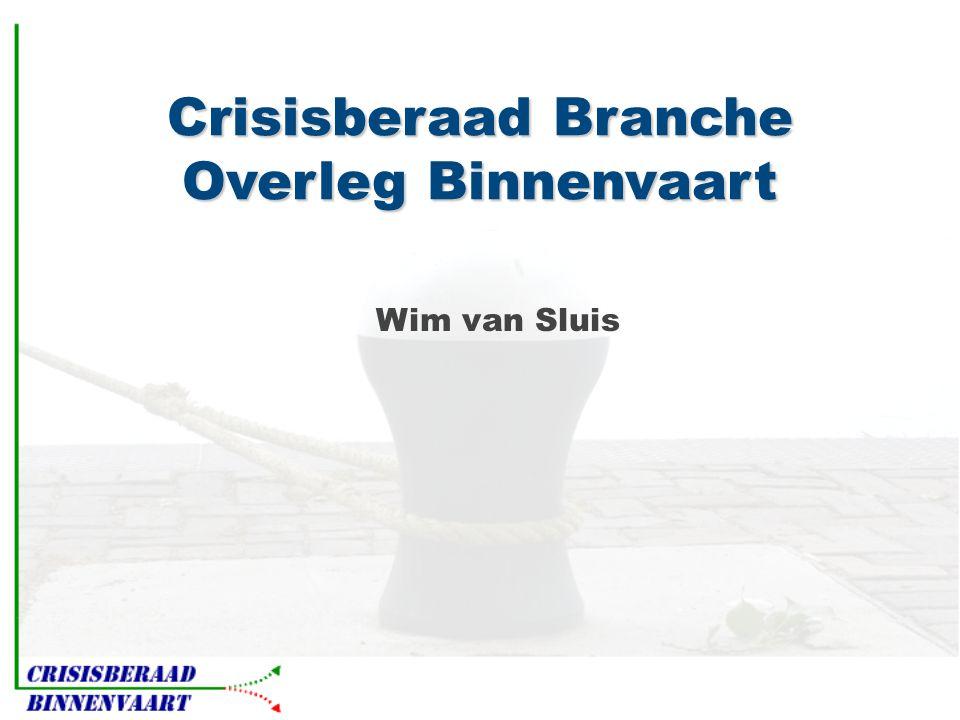 Crisisberaad Branche Overleg Binnenvaart Wim van Sluis
