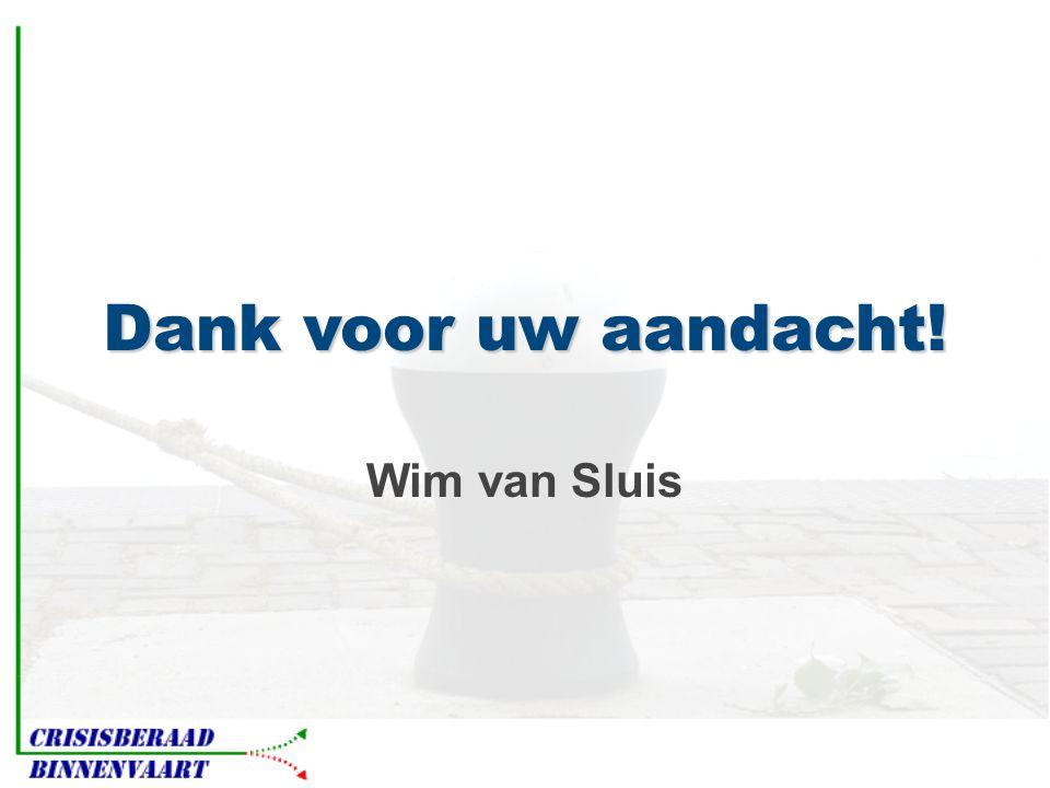 Dank voor uw aandacht! Wim van Sluis
