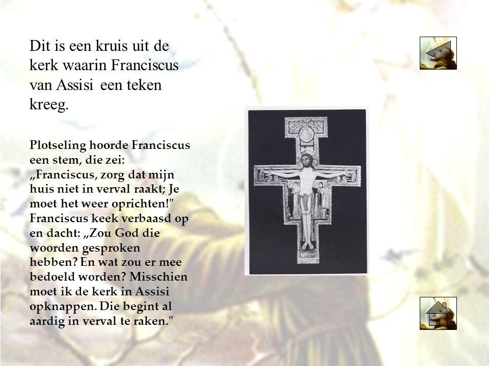1209 Klik op het jaartal 1208 1219 Klik op het jaartal Franciscus gaat ongewapend met een kruistocht mee.