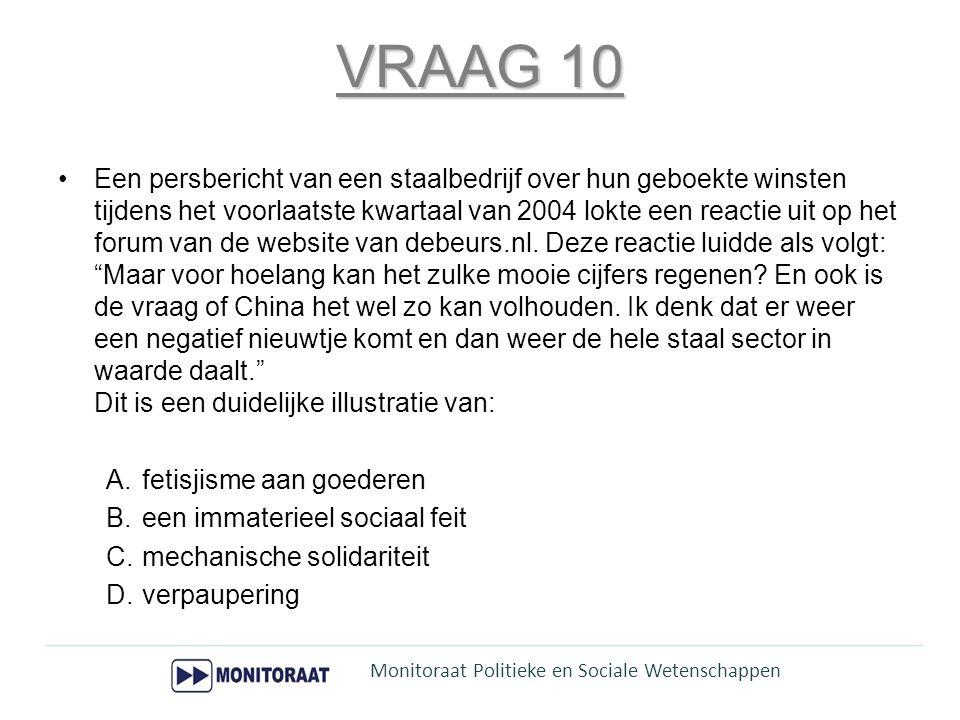 VRAAG 15 •Welke stelling is FOUT.