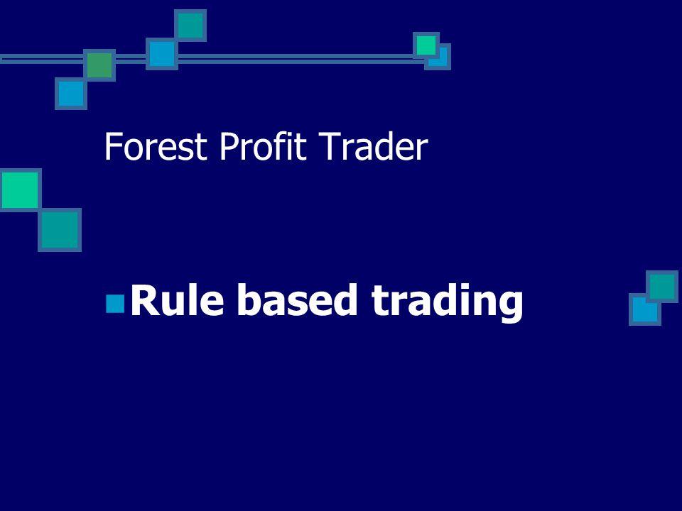 Forest Profit Trader  Rule based trading