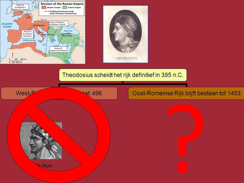 Vroege Middeleeuwen • Ineenstorting van het centrale Romeinse bestuur.