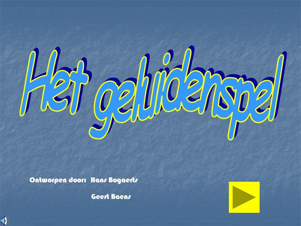 Ontworpen door: Geert Baens Hans Bogaerts