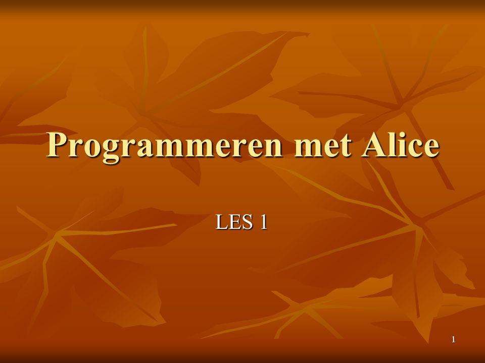 1 Programmeren met Alice LES 1