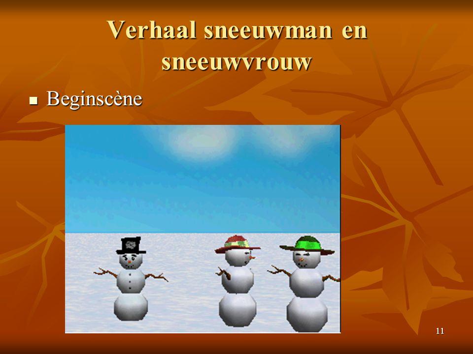 11 Verhaal sneeuwman en sneeuwvrouw  Beginscène