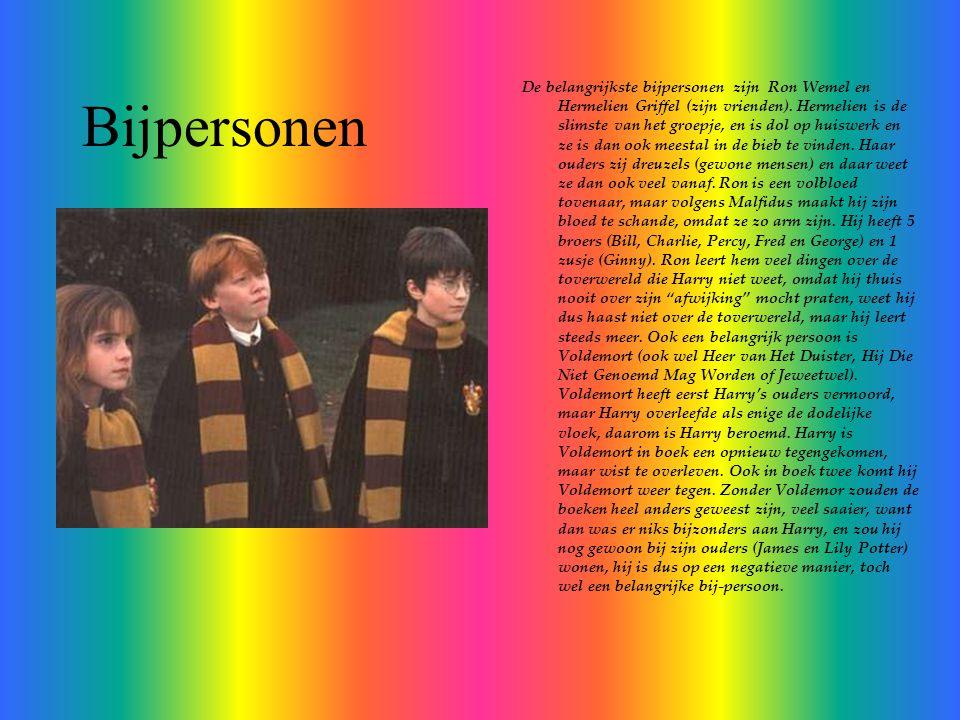 Bijpersonen De belangrijkste bijpersonen zijn Ron Wemel en Hermelien Griffel (zijn vrienden).