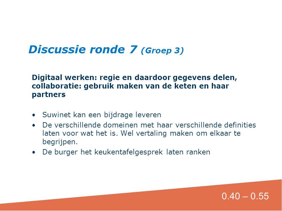 Digitaal werken: regie en daardoor gegevens delen, collaboratie: gebruik maken van de keten en haar partners •Suwinet kan een bijdrage leveren •De ver