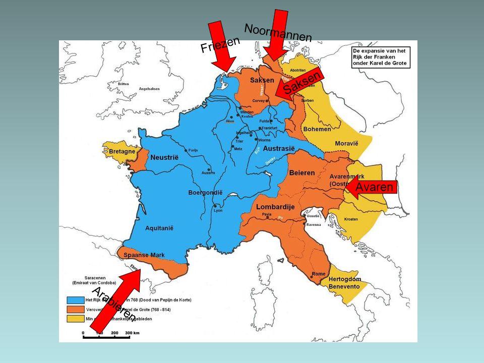 Arabieren Friezen Saksen Noormannen Avaren