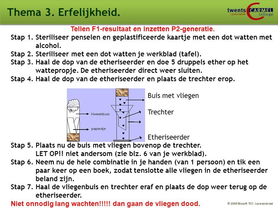 © 2009 Biosoft TCC - Lyceumstraat Thema 3.Erfelijkheid.