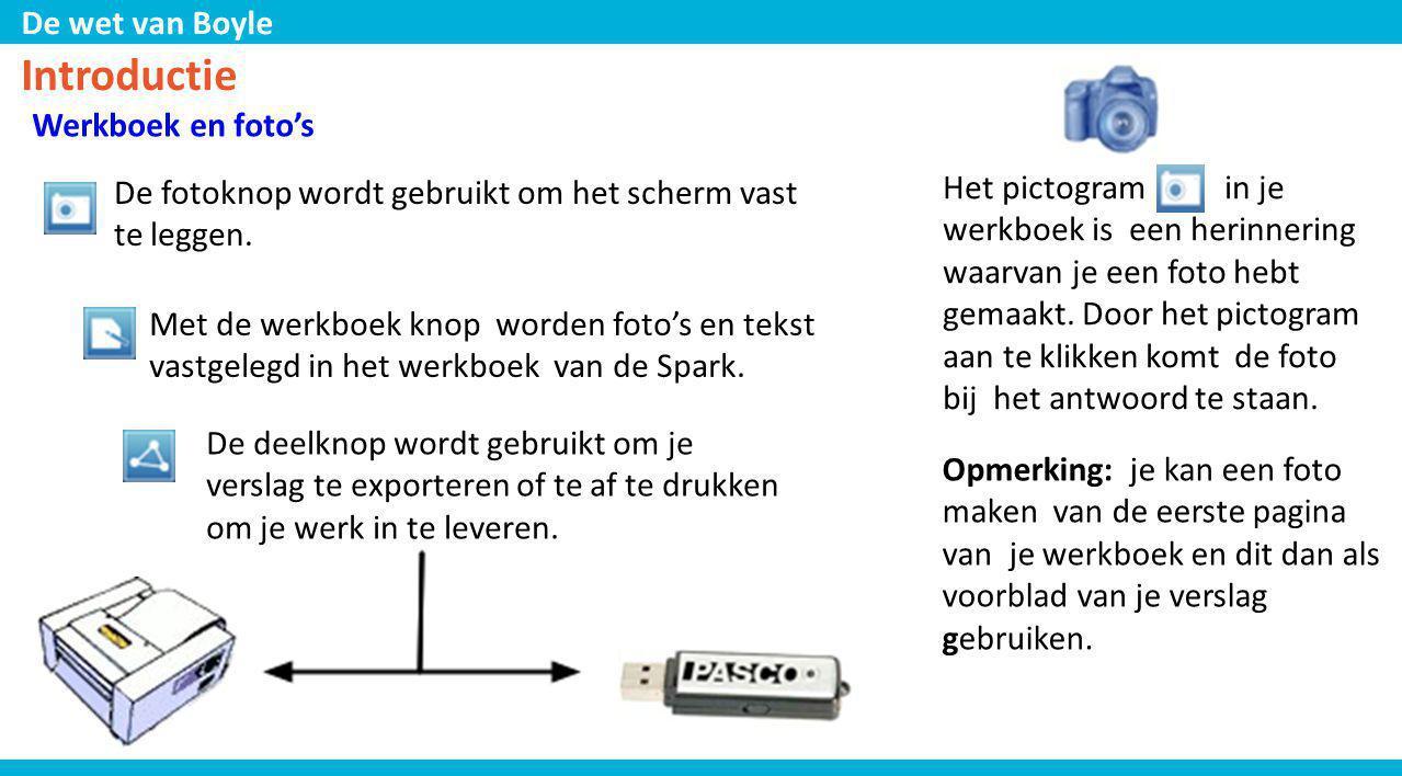 De wet van Boyle Opstelling 1.Verbind de absolute druksensor met de verlengkabel aan de Spark.