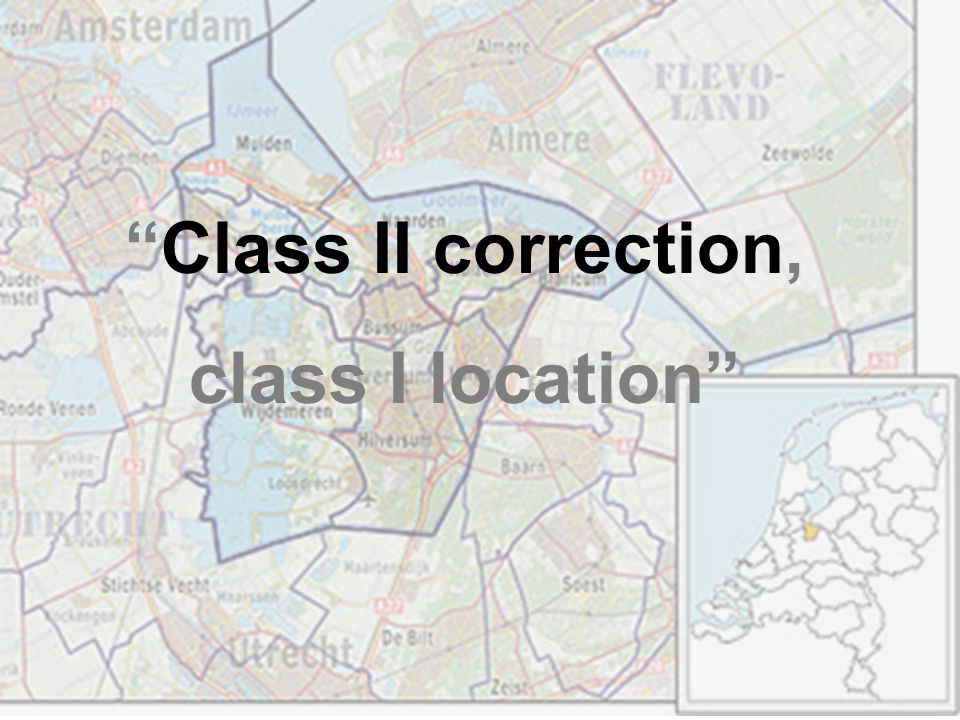 """Class II correction, class I location"""