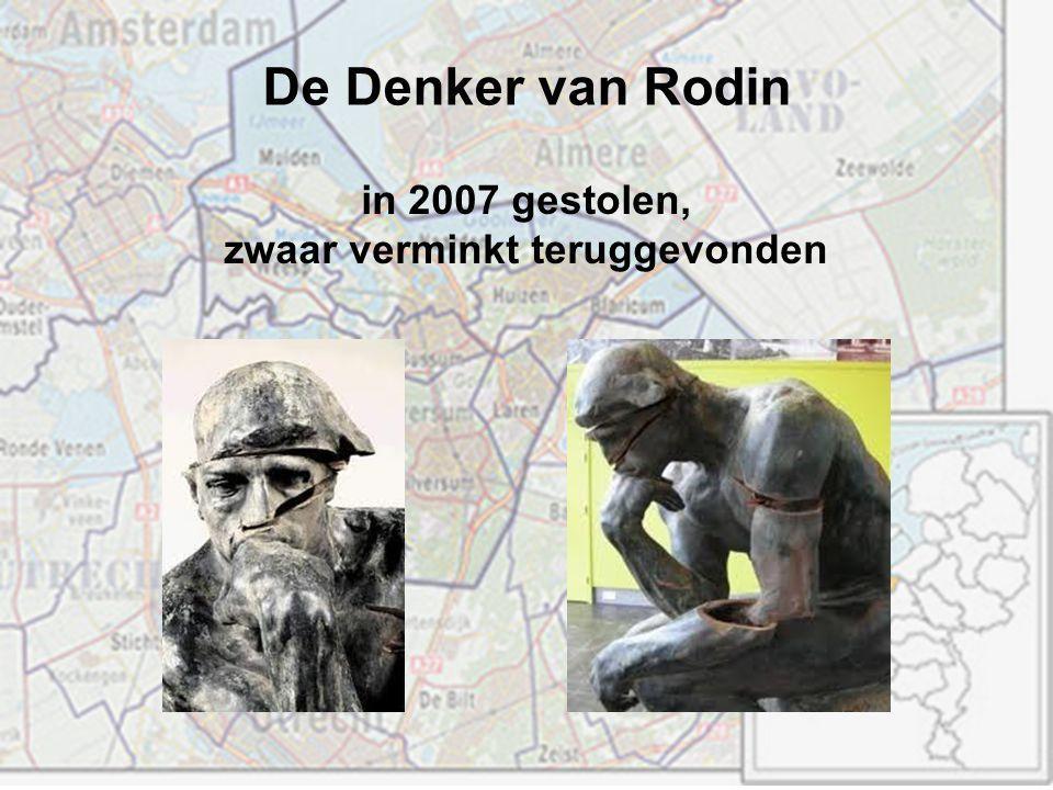 De Denker van Rodin in 2007 gestolen, zwaar verminkt teruggevonden