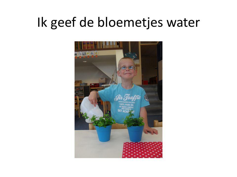 Ik geef de bloemetjes water